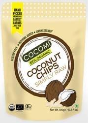 Chipsy kokosowe pieczone bezglutenowe BIO 100 g