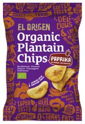 Chipsy z plantana paprykowe bezglutenowe BIO 80 g