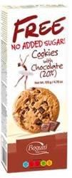 Ciasteczka z 20 % czekolady B/C 135 g