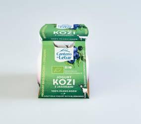 Jogurt kozi z jagodami BIO 125 g