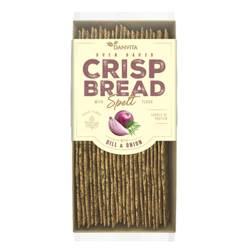 Płaskie chlebki pszenne z maki orkiszowej z cebulką i koperkiem Danvita, 130g