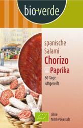 Salami chorizo z papryką plastry BIO 80 g