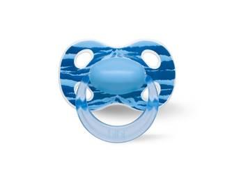 Smoczek ortodontyczny uspokajaj? cy WILD BABY/niebieski (SIL) HAPPINESS