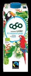 Woda kokosowa z miąższem BIO fair trade 1 l