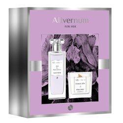 Zestaw prezentowy Allvernum Iris & Patchouli woda perfumowana 50ml i Świeca Forest SPA 100g